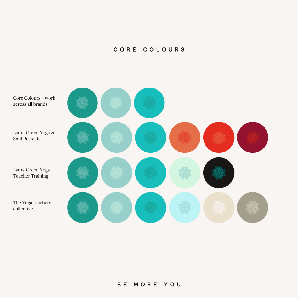 brand and sub brand colour palette