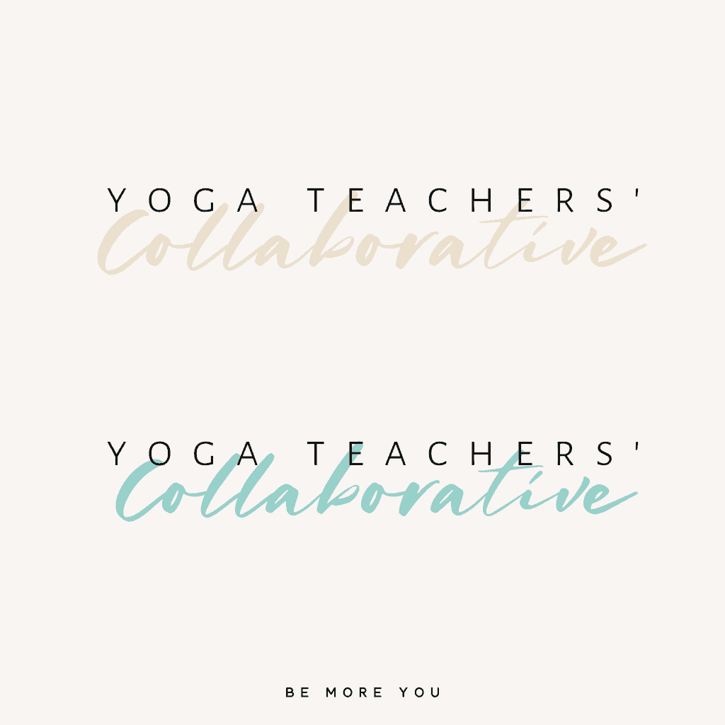 Yoga brand logo | Text based logo for yoga teacher | Yoga Logo | Be More you Branding & Marketing