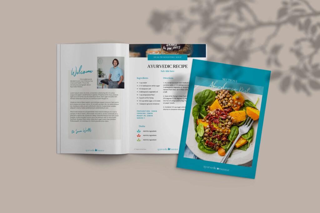 Ayurvedic mentor brand workbook mockup 1