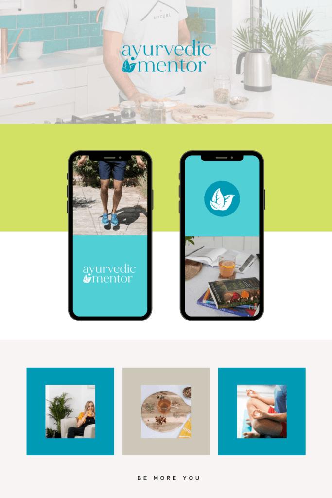 Ayurvedic Mentor Brand Design - Be More You Brand Design