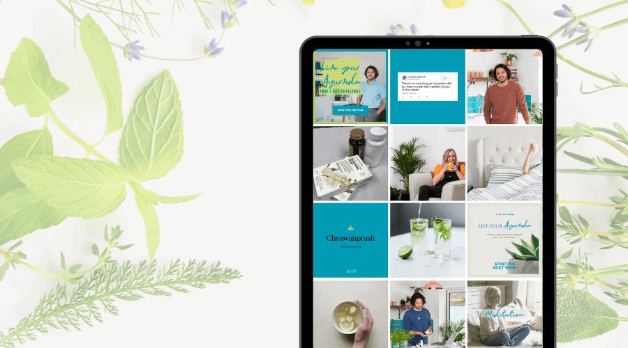 Ayurvedic mentor - Mind Body Medical Instagram design - Be More You Brand Design