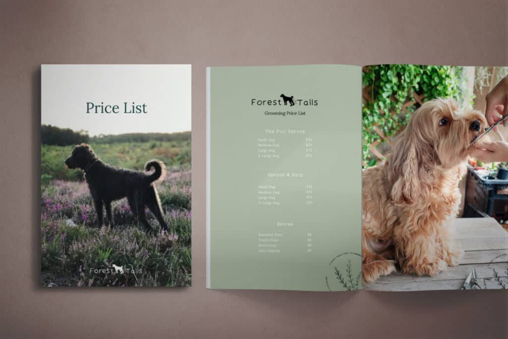 Forest Tails brand booklet-be more you brand design