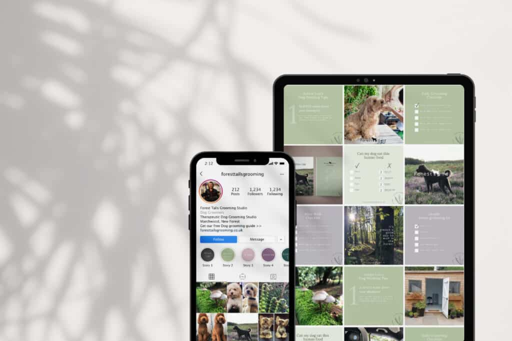 Forest Tails instagram design be more you brand design