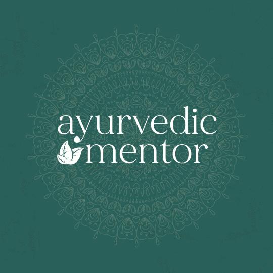 Ayurvedic mentor logo - Ayurveda branding integrative medicine membership logo design brand and web design by be more you