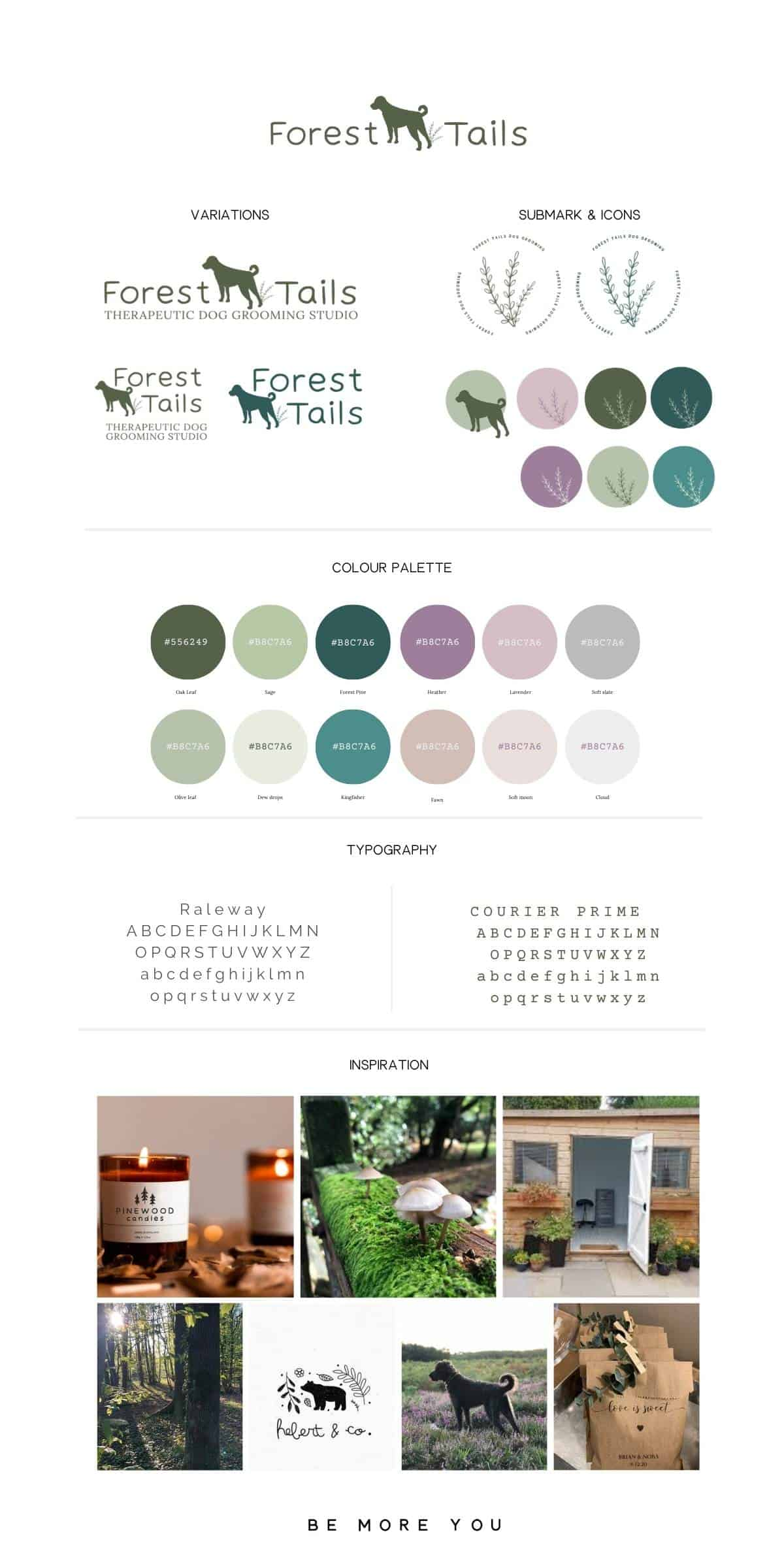 Brand Style Board FOREST TAILS