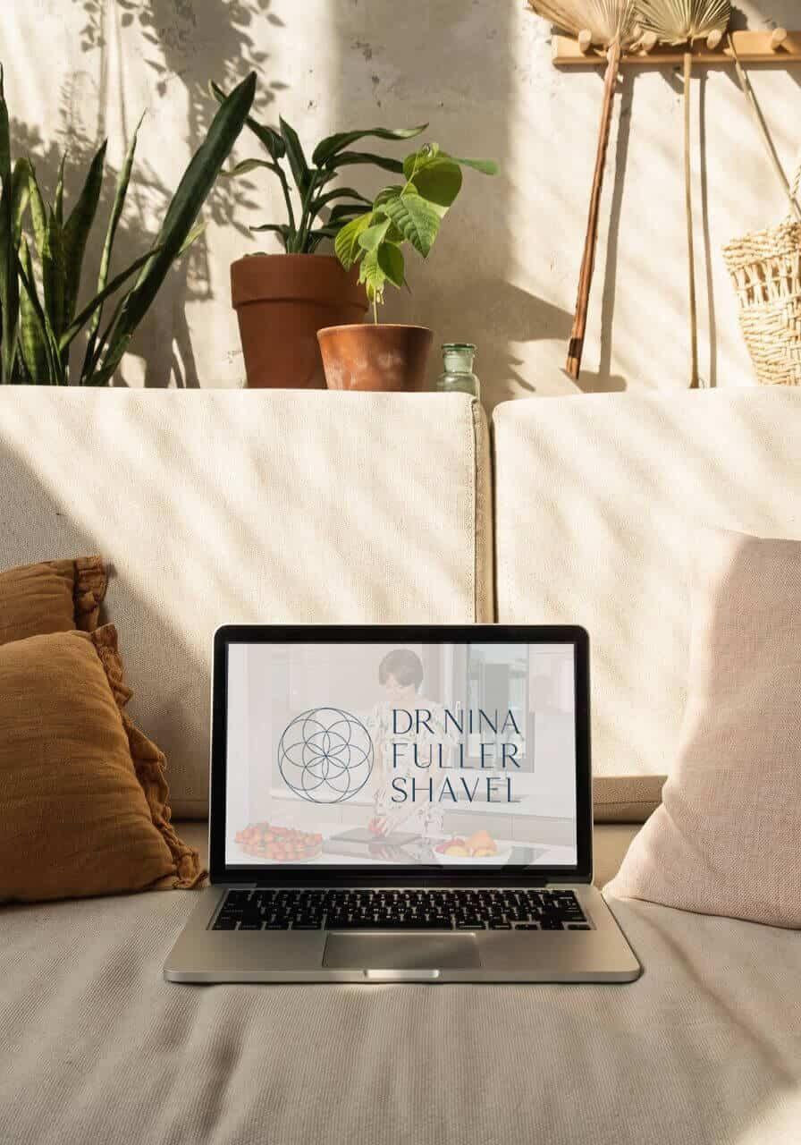 Brand Mock up Dr Nina Fuller Shavel Integrative medicine doctor logo brand design 1920x1080