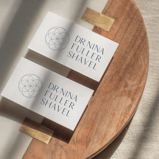 Dr Nina fuller shavel branding-logo design brand and web design by be more you