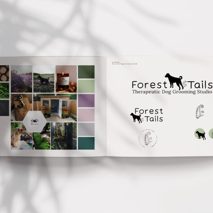 Forest Tails brand logo be more you brand design